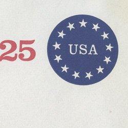 切手付封筒 アメリカ1989年13星25c