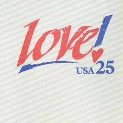 切手付封筒 アメリカ1989年LOVE