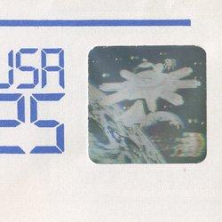 切手付封筒 アメリカ1989年宇宙開発ホログラム25c