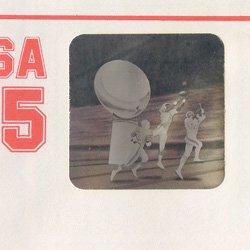 切手付封筒 アメリカ1990年アメフト ホログラム