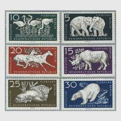 東ドイツ 1956年ベルリン動物園6種