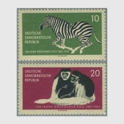 東ドイツ 1961年シマウマなど2種
