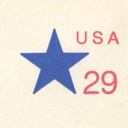 切手付封筒 アメリカ1991年星29c(大)