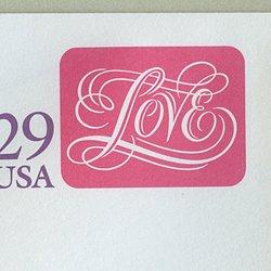 切手付封筒 アメリカ1991年LOVE(大)