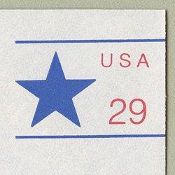 切手付封筒 アメリカ1991年星29c