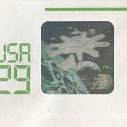 切手付封筒 アメリカ1992年宇宙開発ホログラム29c