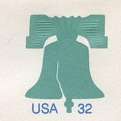 切手付封筒 アメリカ1995年自由の鐘エンボス(小)
