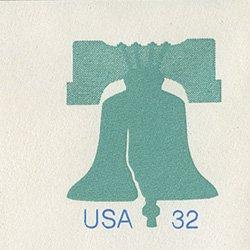 切手付封筒 アメリカ1995年自由の鐘エンボス(大)