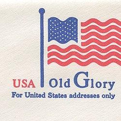 切手付封筒 アメリカ1995年Old Glory(小)