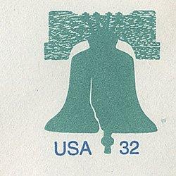 切手付封筒 アメリカ1995年自由の鐘