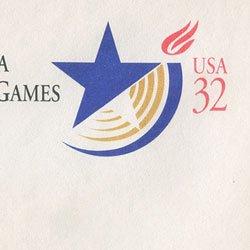 切手付封筒 アメリカ1996年アトランタパラリンピック
