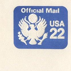 切手付封筒 アメリカ1985年公用22c