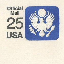 切手付封筒 アメリカ1988年公用25c