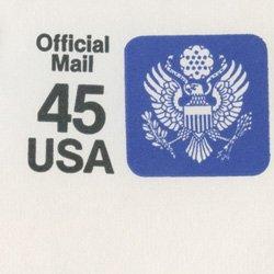 切手付封筒 アメリカ1990年公用45c
