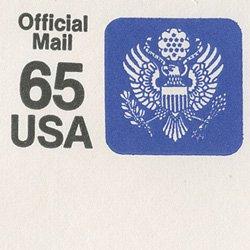 切手付封筒 アメリカ1990年公用65c