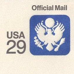 切手付封筒 アメリカ1991年公用29c