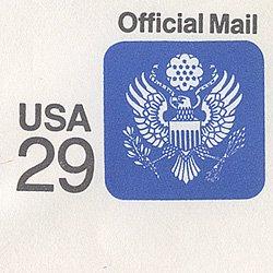 切手付封筒 アメリカ1991年公用29c 窓付き