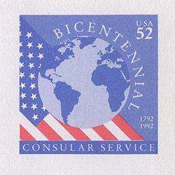 切手付封筒 アメリカ1992年公用52c