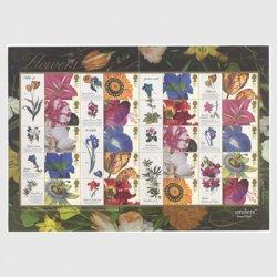 イギリス 2003年グリーティング 19世紀に描かれた花