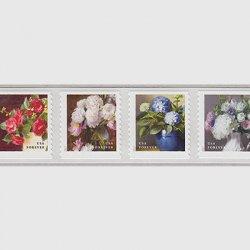 アメリカ 2017年庭園の花コイル4種連刷