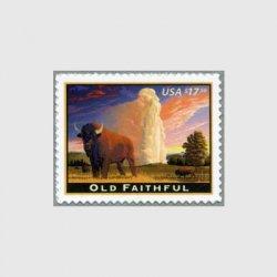 アメリカ 2009年オールドフェイスフル速達切手
