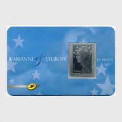 フランス 2009年マリアンヌ銀製切手