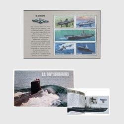アメリカ 2000年潜水艦100年切手帳ペーン