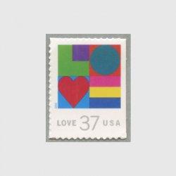 アメリカ 2002年LOVE切手37c