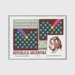 アルゼンチン 1971年郵便の電子化