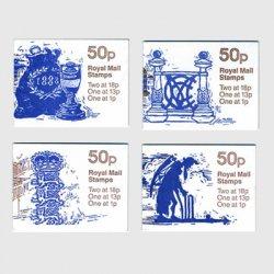 イギリス 切手帳「メリルボーンクリケットクラブ」4種