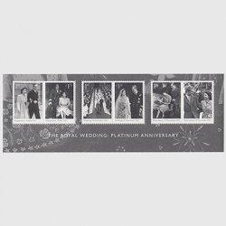 イギリス 2017年エリザベス女王 プラチナ婚 ミニチュアシート