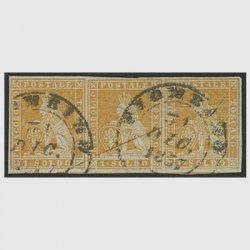 イタリアトスカーナ州切手 1soldo 3連 使用済