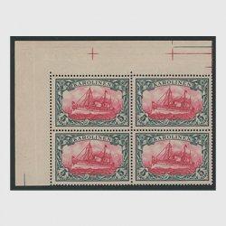 カロリン諸島 1901年 カイザーヨット5M 耳紙付田型