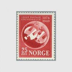 ノルウェー 1949年UPU75年地球とハト