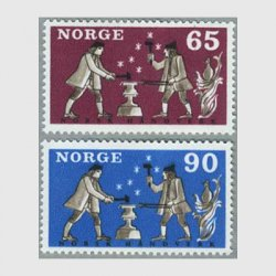 ノルウェー 1968年鍛冶屋2種