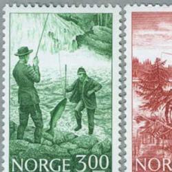 ノルウェー 1984年釣り3種