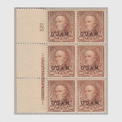 グアム 1899年 普通切手10c 6枚ブロック