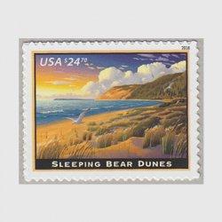 アメリカ 2018年速達切手「スリーピングベア砂丘」