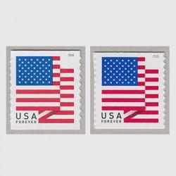 アメリカ 2018年普通切手国旗コイル