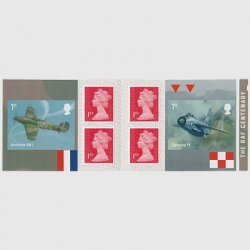 イギリス 2018年イギリス空軍100年切手帳(MK I、F6)