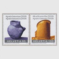 スイス 2018年文化遺産年2種