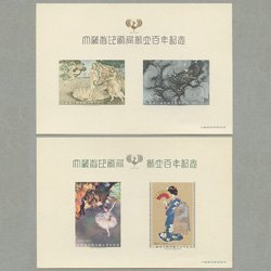 スーベニアカード・大蔵省印刷局創立100年記念