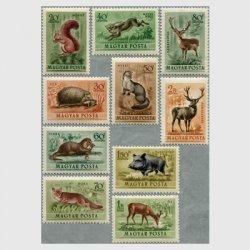 ハンガリー 1953年動物10種