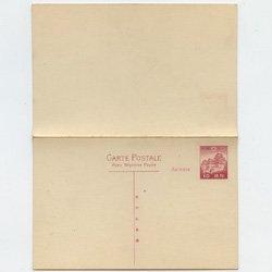 外信用はがき 姫路城連合20銭(往復)・初日風景印