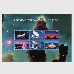 アメリカ 2000年宇宙開発シリーズ小型シート「宇宙の探査」