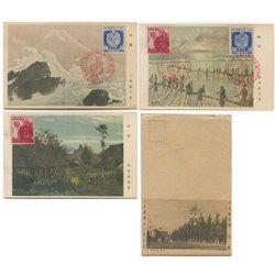 記念はがき 1946年日本国憲法公布3種※記念印付き