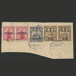 サモア 1914年使用済カット