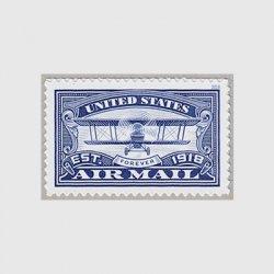 アメリカ 2018年航空郵便100年・青