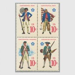 アメリカ 1975年独立戦争200年独立戦争当時の軍服4種連刷
