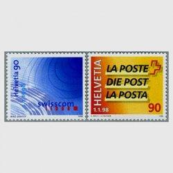 スイス 1998年スイス郵政とスイス通信分離2種